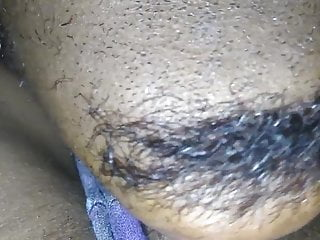 Black milf gets pussy licked close up...