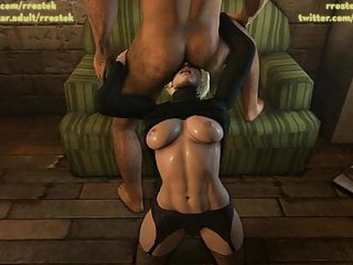 Power girl licking man where its nice 3...