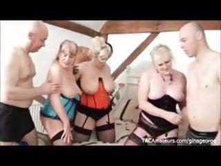 3 busty sluts and 3 horny guys