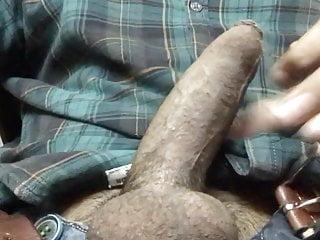 Desi top fondling his big fat indian cock...