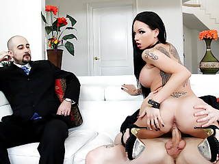 Wife raven bay pounded as cuckold watches...