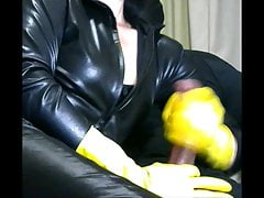 Smoking Wife in Yellow Rubber Gloves drives me Insane