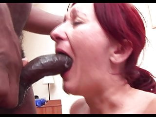 Hungarian Mature Gets Throat Fuck from BBC and Cum Play