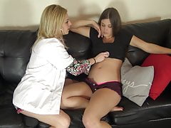 Kinky Midwife Nurse Inspects Pregnant Belly Of Hot Babe