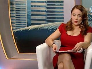 Csisztu Zsuzsa in Red Dress- Very Big Boobs, Cleavage