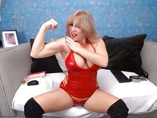 Hot Mature Showing Off Her Muscles