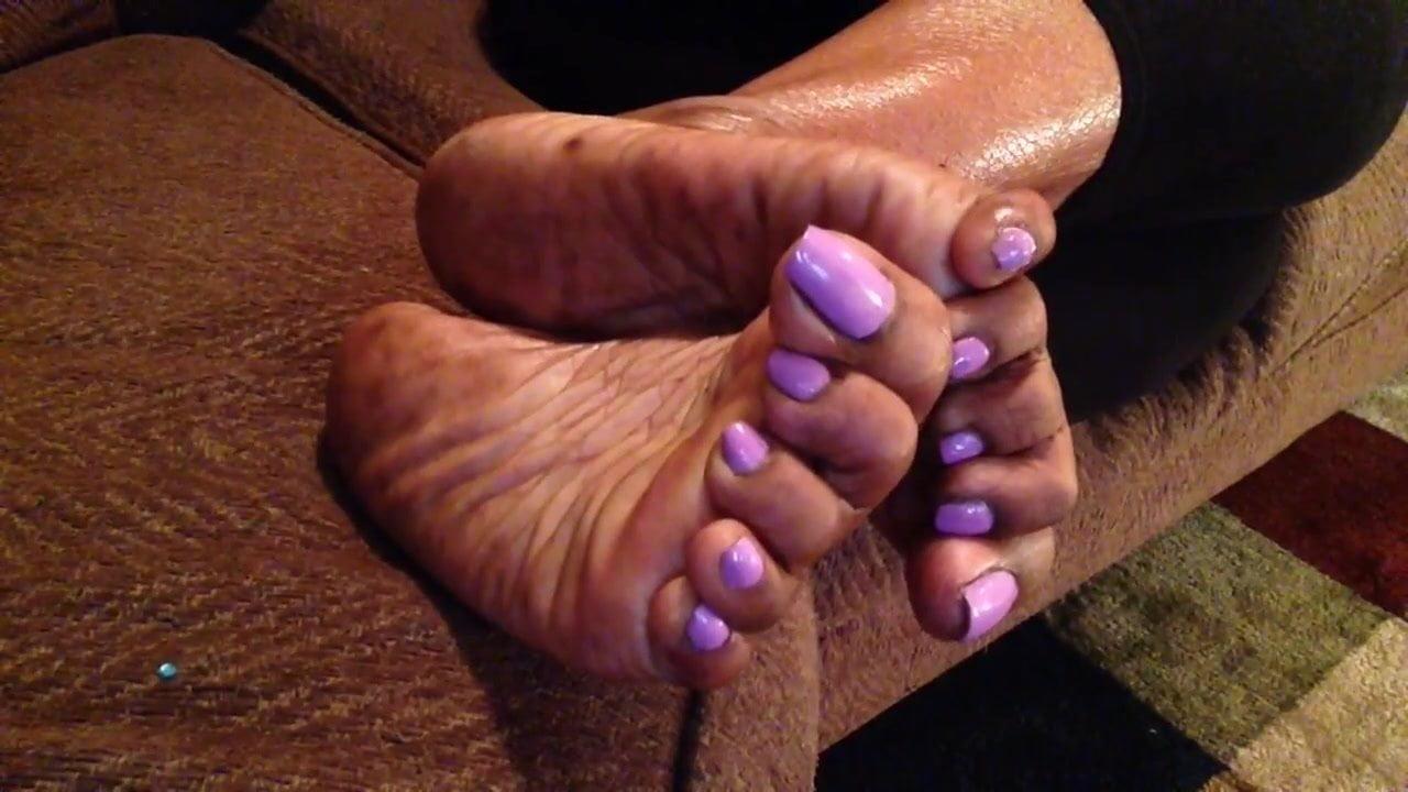 Ebony Dildo Masturbation Feet