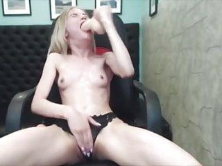 Brutal blonde sloppy facefuck whore...