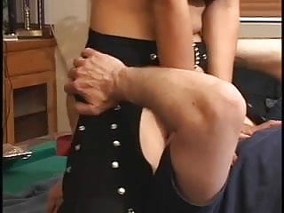 Stunning anal lingerie tight asshole drilled by big...