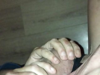 Cock stroked hard by friend...