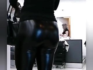 Milf leather leggings busted...