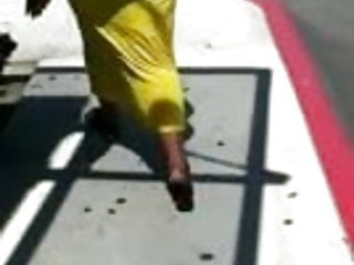 In yellow dress...