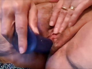 Chubby mature taking care of her pussy before sex