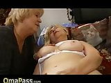 Old Lesbian Granny fucking with hairy chubby mature