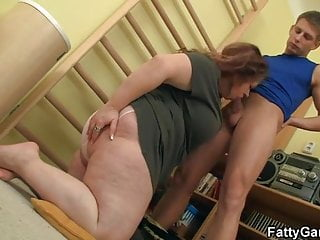 Fitness instructor bangs BBW