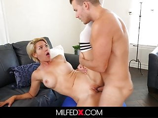 Horny Milf Titty Fucks And Blows Her Yoga Instructor