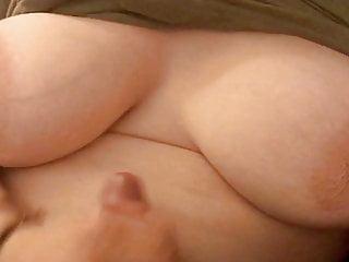 Big cumshot onto wife rsquo boobs...