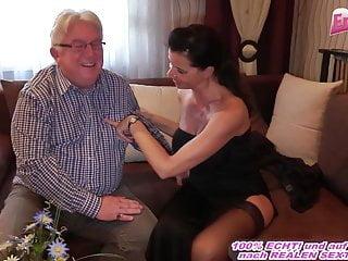 German fucks grandpa at escort date...