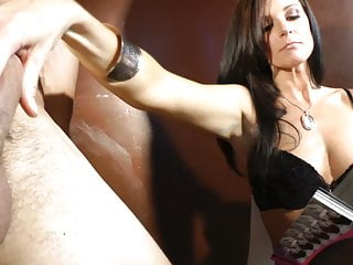 Cock cage slave gets liberation and gets milked in her panti