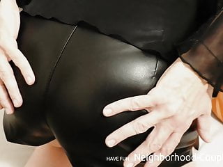 Her new Wet Look Leather Panty