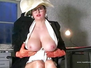 Horny randy stocking secretary works sex office...