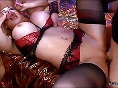 Chessie Kay receiving dildo, cum and hard cocks