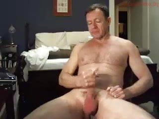 Obscene daddy masturbates on cam while wife sleeps