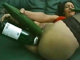 Bottle & Big Vegi Mega Penetration on Big Cunt