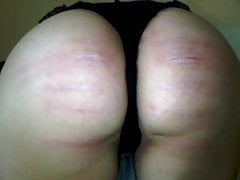 Creative Caning With Striptease
