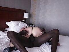Horny GILF Hotel Maid gets a spanking