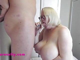 Huge tits mature sally turns...