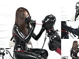 follow my twitter: fetishslavestudio Latex catsuit mistress