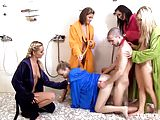 Teenrs.com Colorful shower group fuck