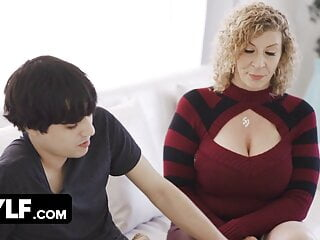 Lucky Stud Helps Horny Big Titted Milf With Some House Work