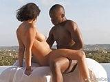 African Ebony Couple Explore Love