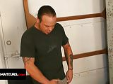 Nasty dick rider Mike Hawk jerks off and ejaculates