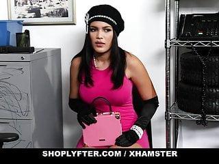 ShopLyfter – Big Tits Latina Shoplifter Blows Guard