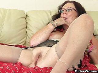 Zadi fucks herself with a dildo...
