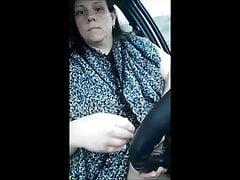 Ich fahre Auto in Dessous