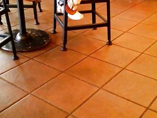 Candid Asian Feet In Flip Flops at Starbucks 2019 Easter