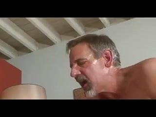 Grey beard old dad jay taylor kiss lick...