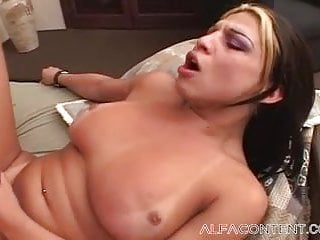 Hot Shemale Fucks A Dude In The Bedroom