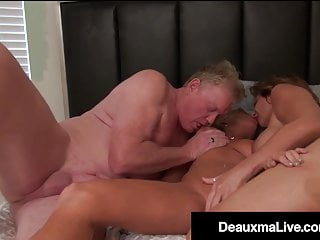 Cougar Deauxma Stocks Husband With Erotic Blonde Payton Corridor