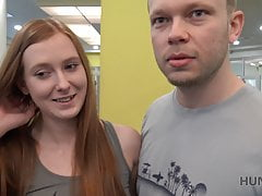 HUNT4K. Cute girl instead of training has sex in gym