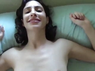 Cute brunette has sex in POV
