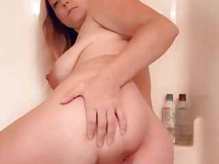 In Shower Pregnant Girl The Big Spreads Tits Ass
