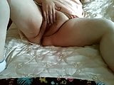 First close-up masturbation of horny granny