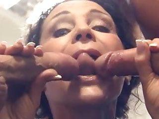 Big boobed german Milf-slut getting double penetrated
