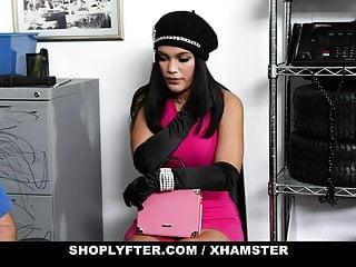 ShopLyfter - Big Tits Latina Shoplifter Blows Guard