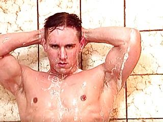 College Jock Doug Gets Sensual in the Shower